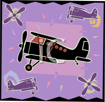 Transportation Icon Design-Bi Plane