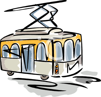 Drawing of a Tram