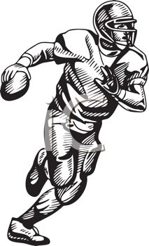 royalty free clip art image black and white football quarterback rh clipartguide com soccer player clipart free download soccer player clipart free download