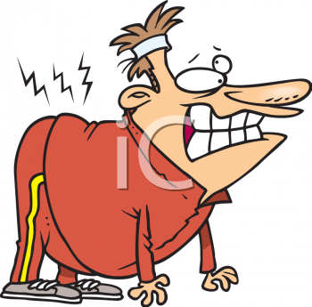royalty free clip art image cartoon of a fat guy hurting his back rh clipartguide com