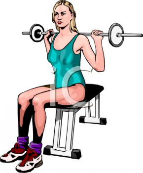Realistic Style Woman Lifting Weights in a Gym