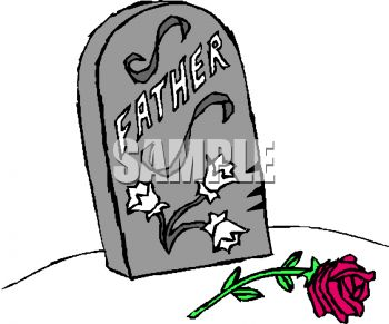 Father's Grave Marker Headstone - Royalty Free Clip Art Picture