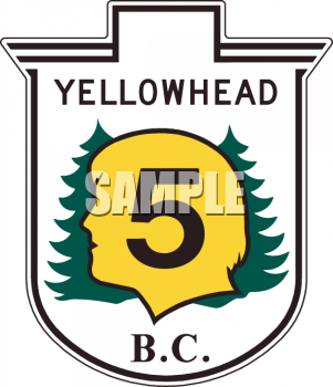 Yellowhead Park Road Marker British Columbia