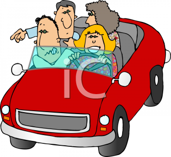 royalty free clip art image cartoon of people out for a drive rh clipartguide com driving clipart gif clipart driving a car