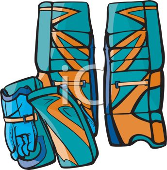 Goalie Gloves and Shin Guards