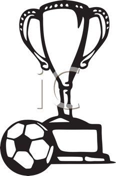 Black And White Soccer Ball Trophy