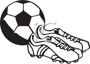Black and White Soccer Ball and Cleats