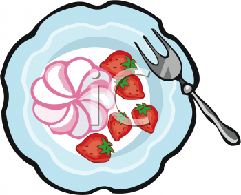 Plate of Strawberries and Cream