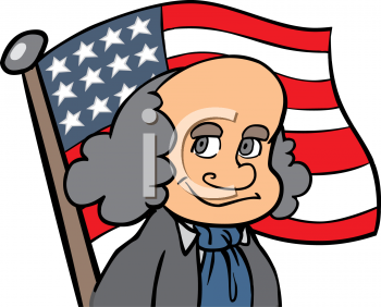 Cartoon of Benjamin Franklin
