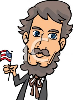 4th of july cartoon of abraham lincoln royalty free clipart picture rh clipartguide com lincoln silhouette clip art lincoln memorial clip art