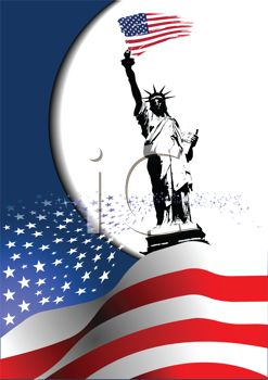 Patriotic Lady Liberty Background for the 4th of July