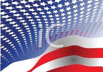 Patriotic Flag Background of Stars and Stripes