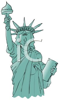 Cartoonish Statue of Liberty