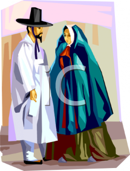 Spanish Couple in Traditional Garments