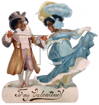 Victorian African American Couple Valentine