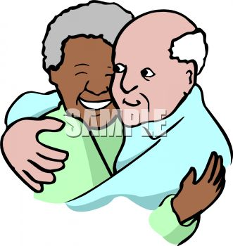 Interracial Grandparents - Royalty Free Clip Art Image