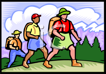 People Hiking in the Mountains