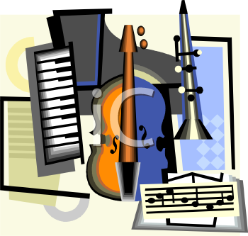 Collage of Musical Instruments