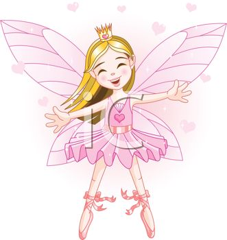 Faerie Princess with Her Arms Outspread for a Hug