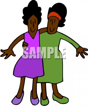 ethnic twin sisters royalty free clip art image rh clipartguide com sisters clip art images sisters clipart black and white