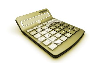 Gold Colored 3D Calculator