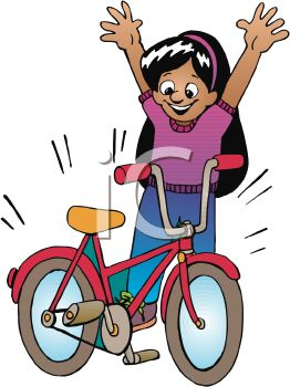 happy little girl with a new bike royalty free clipart image rh clipartguide com news clip art images new clipart images