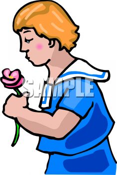 Boy in a Sailor Suit Holding a Flower