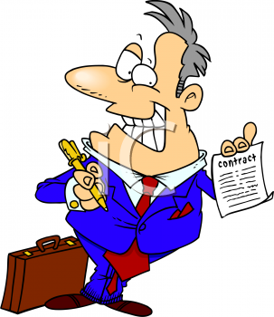 royalty free clip art image cartoon of a grinning salesman holding rh clipartguide com  car salesman clipart