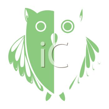 Owl Design in Green and White