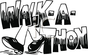Walk-A-Thon Text Banner with Feet