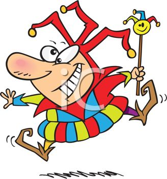 Cartoon of a Hilarious Looking Court Jester