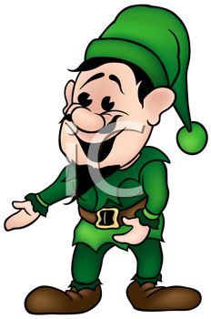 Cartoon of One of Santa's Elves