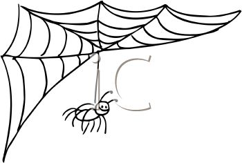 royalty free clip art image spider hanging from it s web rh clipartguide com web clipart images web clipart black and white