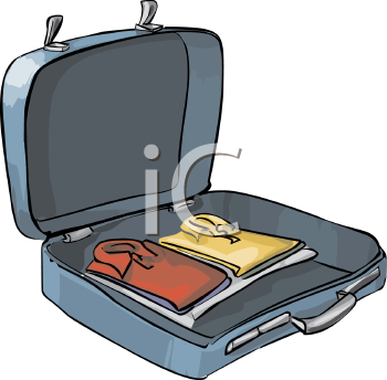 Open Suitcase with Clothes Inside