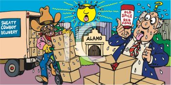 Texas Delivery Man Bringing Hot Sauce to the Alamo