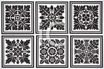 Collection of Floral Tiles