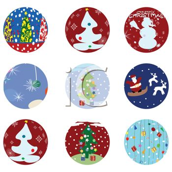 Variety of Christmas Tags or Icons
