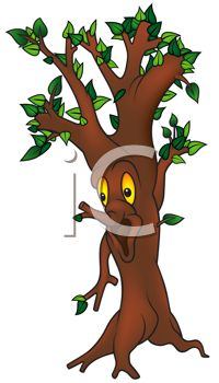 Animated Cartoon Tree with a Face