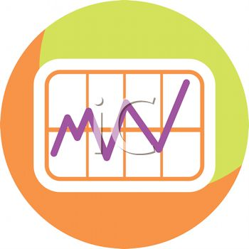 Line Graph Icon for the Medical Field