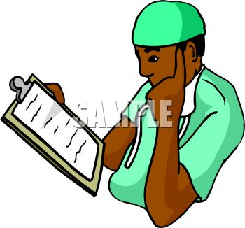 African American Doctor Studying a Patient Chart