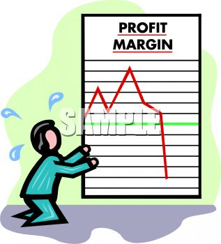 Man Crying While Looking at a Dropping Profit Margin Report