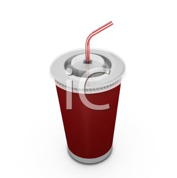 To Go Cup with a Lid and Straw