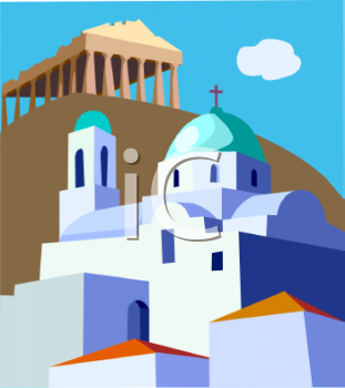 royalty free clipart image travel ad greece rh clipartguide com grease clipart greek clip art illustrations