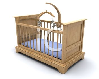 Light Natural Wood Crib