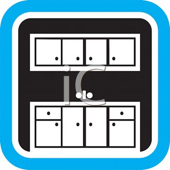 kitchen cupboards icon royalty free clipart image