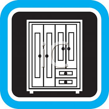 Wardrobe Icon Royalty Free Clipart Picture