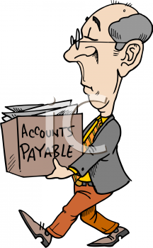 Finance Manager Carrying a Box of Accounts Payable Receipts