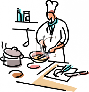 chef preparing food in a kitchen royalty free clip art picture rh clipartguide com chief clipart images chef clipart images