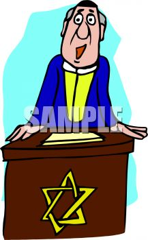 cartoon of a rabbi giving a sermon at a podium royalty free clip rh clipartguide com olympic podium clipart podium clipart