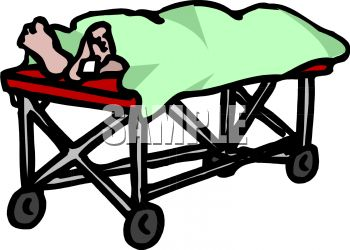 Royalty Free Clipart Image: Dead Person with a Toe Tag on a Morgue ...